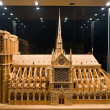 Model of a cathedral Notre-Dame 2 — Stock Photo