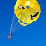 Flight parachute — Stock Photo