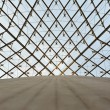 Glass dome of a pyramid in the Louvre - Lizenzfreies Foto
