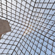 Glass dome of a pyramid in the Louvre 2 - Stock Photo