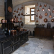 Kitchen in the castle of Chenonceau - Stock Photo