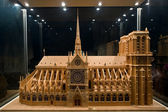 Model of a cathedral Notre-Dame — Stock Photo