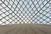 Glass dome of a pyramid in the Louvre — Stock Photo