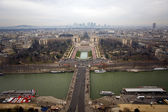 Kind to Paris from Eiffel Tower — Foto de Stock