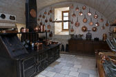 Kitchen in the castle of Chenonceau — Stock Photo