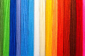 Multi-coloured threads of a wool — Stockfoto