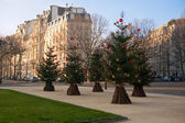 Streets of Paris before Christmas — Stock Photo
