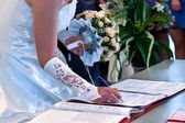 The conclusion of the wedding union — Стоковое фото
