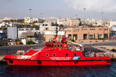 The fire fighting ship — Stockfoto