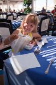 The girl eats ice-cream 2 — Stock Photo