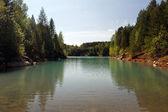 Turquoise lake — Stock Photo