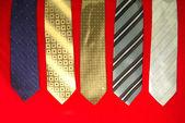 Cinque cravatte — Foto Stock