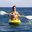 Stock Photo: Womon kayak