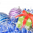 Christmas balls with decoration — Stock Photo #1359963