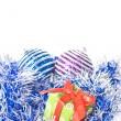 kerstballen met decoratie — Stockfoto