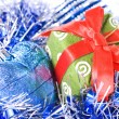 Christmas balls with decoration — Stock Photo #1360139