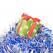 Christmas balls with decoration — Stock fotografie