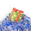 Christmas balls with decoration — Stock Photo #1360293