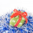 Christmas balls with decoration — Stock Photo #1360325