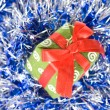 Foto Stock: Christmas balls with decoration