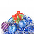 Christmas balls with decoration — Stock Photo #1360404