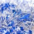 Blue christmas light background — Stock Photo