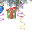 Stock Photo: Christmas gift and decoration