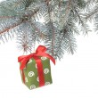 Christmas gift and decoration — Stock Photo #1361065