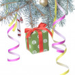 Christmas gift and decoration — Stockfoto
