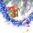Christmas gift and decoration — Foto de Stock