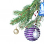 Christmas decoration on fir tree — Stock Photo