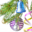 Kerstdecoratie op fir tree — Stockfoto #1361503