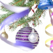 Stock Photo: Christmas decoration on fir tree
