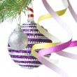 Christmas decoration on fir tree — Stockfoto #1361564