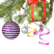 Christmas decoration on fir tree — Stockfoto
