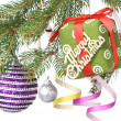 Christmas decoration on fir tree — Stockfoto #1361688