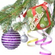Christmas decoration on fir tree — Stock Photo #1361695