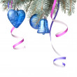 Christmas decoration on fir tree - Stock Photo