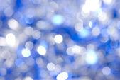 蓝色圣诞灯背景 — 图库照片