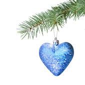 杉木树上圣诞球 — 图库照片