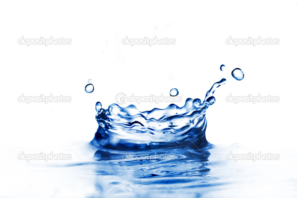 Water splash isolated on white — Stok fotoğraf #1364115