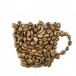 Coffee cup from coffee beans — Stock Photo