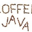 Coffee and java words — Foto de Stock