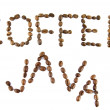 Coffee and java words — Stock Photo