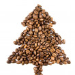 Fir-tree from coffee beans — Stockfoto