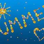 dekorativní letní dopisy — Stock fotografie