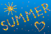 Decorative summer letters — Stock Photo
