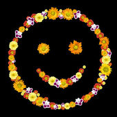 Decorative smile symbol from color — Stock Photo