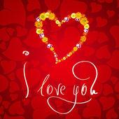 Karta na Walentynki — Zdjęcie stockowe