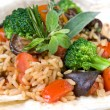 Macro of risotto with vegetables - Stock Photo